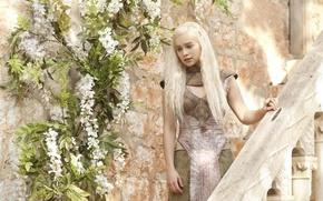 Обои Emilia Clarke, Daenerys Targaryen, девушка, Эмилия Кларк, Игра Престолов, Game of Thrones
