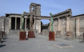 Картинка Италия, руины, Помпеи, раскопки