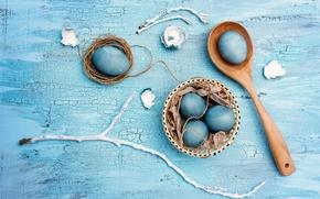 Картинка яйца, eggs, Easter, крашеные, blue, Пасха