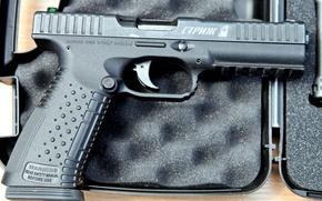 Картинка оружие, Пистолет, мощь, патроны, 9×19 мм, разработан, повышенной, компанией, Российской, при, четырёх, выпускается, самозарядный, Стриж, …