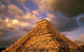 Картинка облака, майя, Пирамида