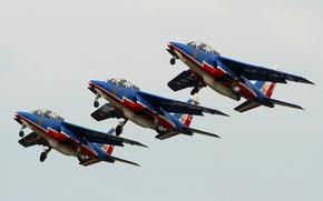 Картинка штурмовик, реактивный, Dornier, лёгкий, Alpha Jet, Patrouille de France