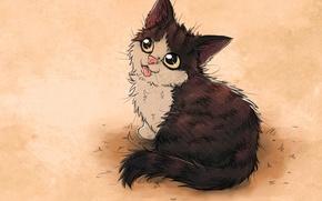 Картинка кошка, настроение, арт, nezu panda