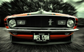 Картинка Mustang, Ford, 1970, front