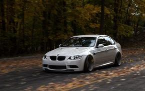 Картинка bmw, бмв, turbo, white, wheels, tuning, power, front, face, germany, e92
