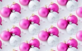 Обои новогодние шары, Новый год, фон, текстура, праздник, шарики