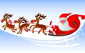 Картинка праздник, новый год, вектор, арт, настоение, santa claus