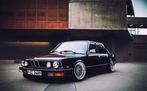 Обои Low, E21, Stance, Clean, BellyScraper, BMW, BBS