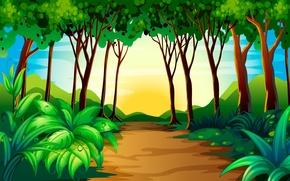 Обои деревья, природа, кусты
