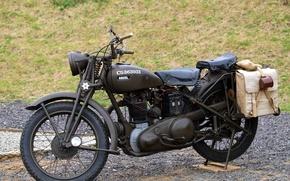 Картинка мотоцикл, Ariel, W/NG, британский, WW2