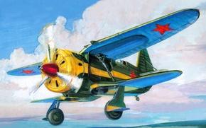 Картинка крылом, арт, самолет, моноплан, вооружение, пулемета, расположенным, ШКАС, В.В.Шевченко, мог, типа, ИС-1, 7 62-мм, В.В.Никитиным, ...