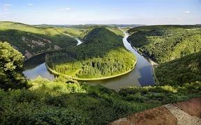 Обои германия, река, поворот