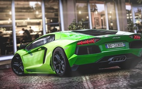 Картинка Lamborghini, Green, Gran Turismo 5, LP700-4, Aventador