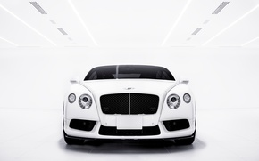 Картинка Bentley, Continental, white, front, GT V8S