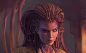 Картинка арт, Sarah Kerrigan, Керриган, Сера, Starcraft II