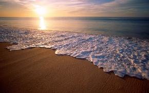 Картинка море, солнце, Волна