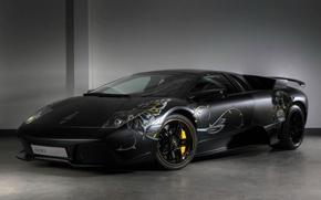 Картинка черный, Lamborghini, аэрография, LP710