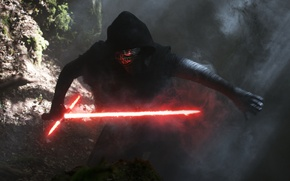 Картинка Star Wars, Dark, Action, Fantasy, Wood, Black, Warrior, with, Laser, The, Wallpaper, Smoke, Jedi, Force, ...