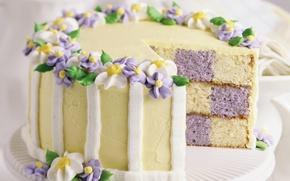 Обои еда, торт, пирожное, крем, тортик, сладкое, вкусно