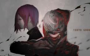 Картинка Tokyo Ghoul, Kaneki Ken, Kirishima Touka, Gamma (Geoffrey)