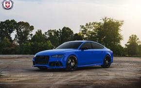 Картинка Audi, Blue, RS7, HRE, P104