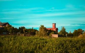Картинка небо, трава, здание, Россия, Калининград