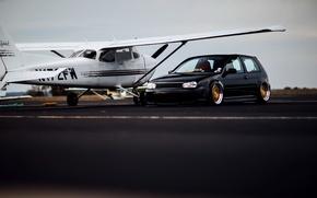 Картинка Volkswagen, R32, tuning, Golf, low