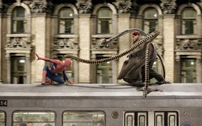 Картинка Doc Ock, Альфред Молина, Alfred Molina, Dr. Otto Octavius, Peter Parker, Человек-паук 2 Spider-Man 2, …