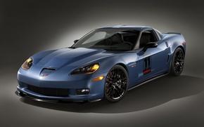 Обои синий, Z06, Corvette, сarbon
