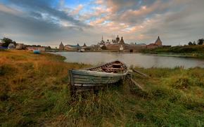 Картинка лодка, Спасо-Преображенский, Соловецкий монастырь