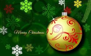 Картинка Снежинки, Merry_Christmas, Ёлочные_украшения