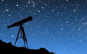 Обои вектор, телескоп, небо, звезды