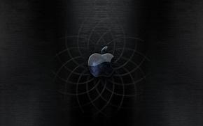 Обои черный, Apple, кривые