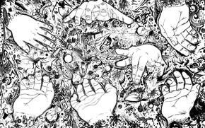 Картинка абстракция, руки, рисунки