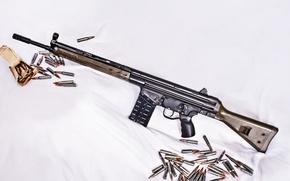 Картинка оружие, фон, патроны, винтовка, автоматическая, CETME