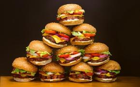 Картинка фон, еда, hamburguesas plásticas