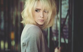 Картинка взгляд, девушка, модель, блондинка, Alysha Nett