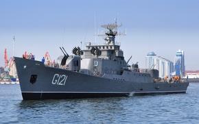 Картинка корабль, фрегат, Каспийское море, сторожевой, G121