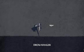 Картинка dark, traxex, valve, archer, dota 2, arrow, sheron1030, minimalsm, Drow ranger