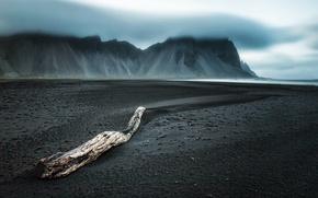 Обои туман, море, берег