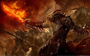 Картинка Огонь, Меч, Fire, Призыв, Guild Wars 2