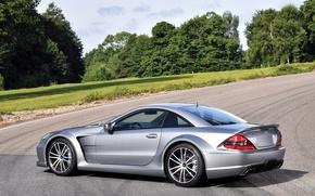 Обои мерс, Mercedes-Benz, AMG, SL 65, Black Series, car, авто, серебристый, wallpaper