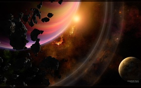 Картинка planets, asteroids, aegiar pass