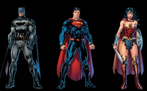 Картинка Wonder Woman, Batman, Superman, Rebirth