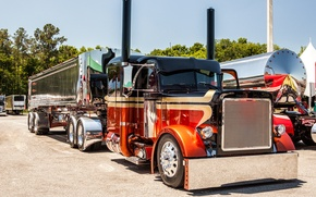 Обои truck, custom, mid america, peterbilt