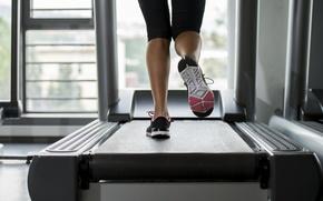 Картинка legs, woman, fitness, treadmill