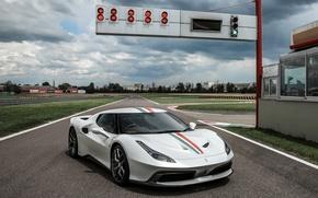 Картинка car, авто, трасса, wallpaper, Ferrari, феррари, 458, MM Speciale