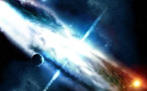 Картинка космос, фантастика, арт, галактика, martin, greg, maelstorm2