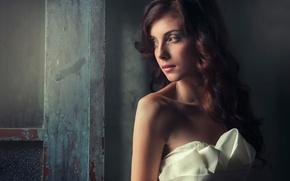 Картинка взгляд, портрет, макияж, освещение