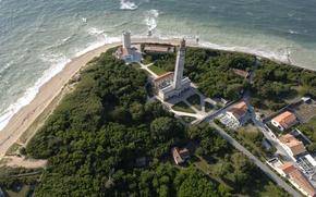 Картинка France, Sea, Lighthouse, Ile de Ré, Charente Maritime, Phare des Baleines
